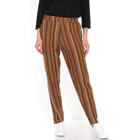 Torres Stripe Pants brown-black-off