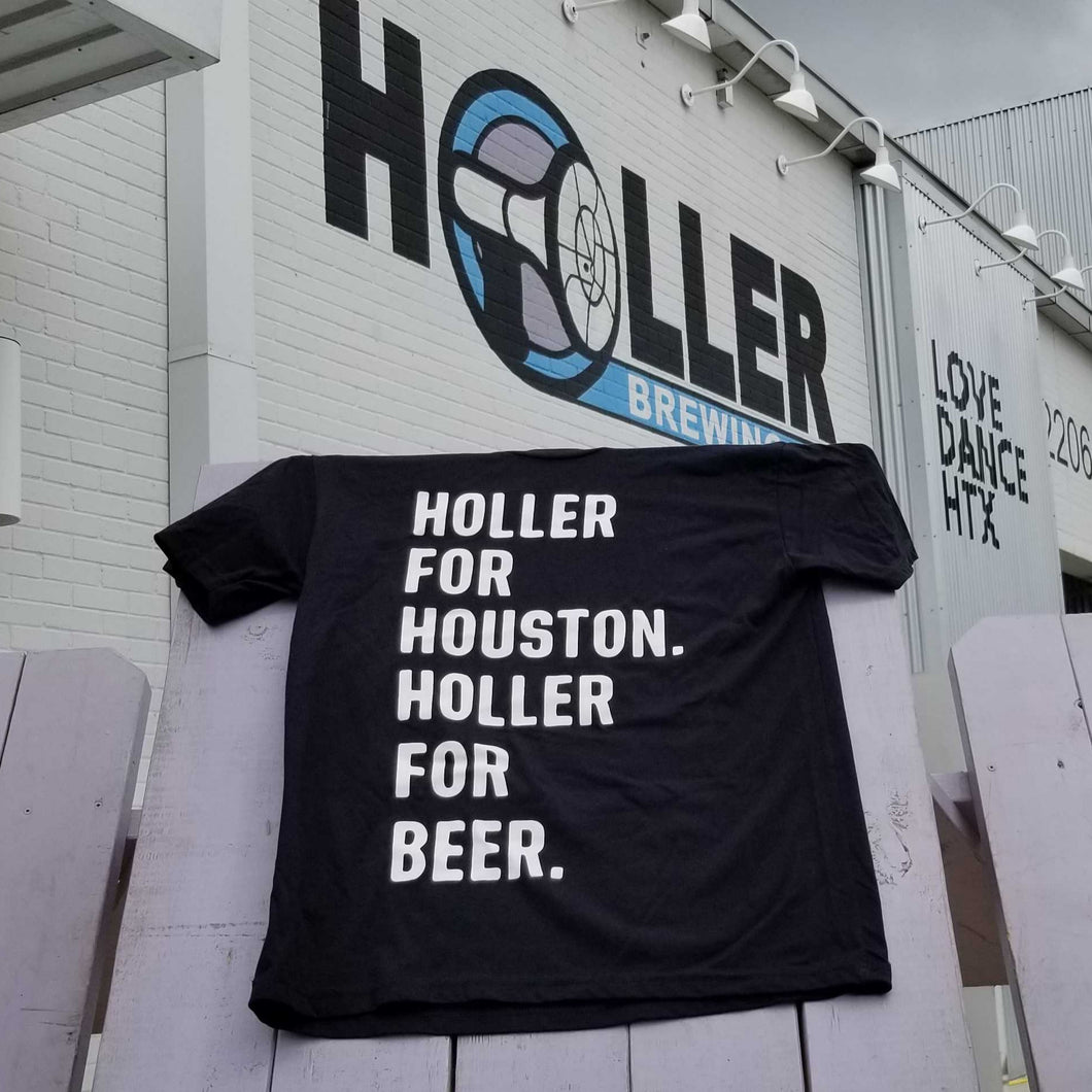 Holler For Houston Black T-Shirt