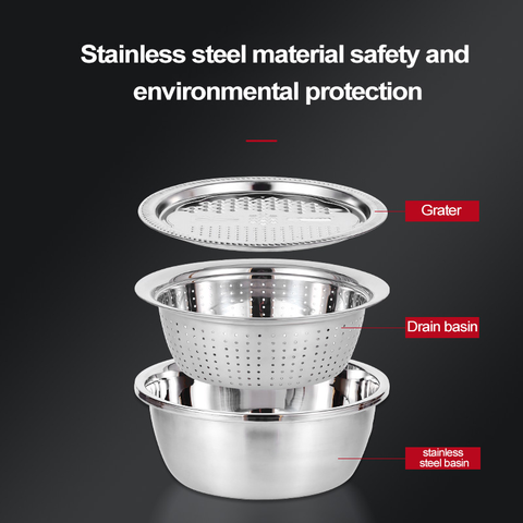 Multi-Functional Stainless Steel Basin
