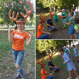 Christmas Reindeer Antlers Ring Toss Game