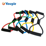 High Quality Rubber Latex Muscle Training Resistance Bands with Foam Grips