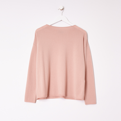 Italian Cashmere Crew Neck Box Top