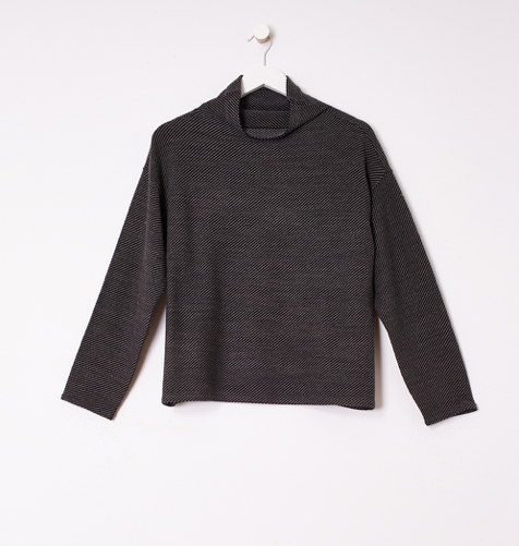 Merino Wool Funnel Neck Box Top