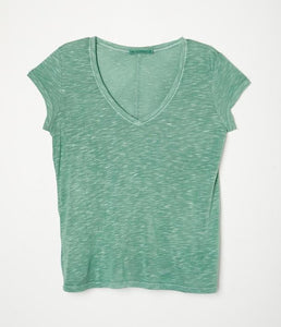 Vneck with Center Back Seam Tee