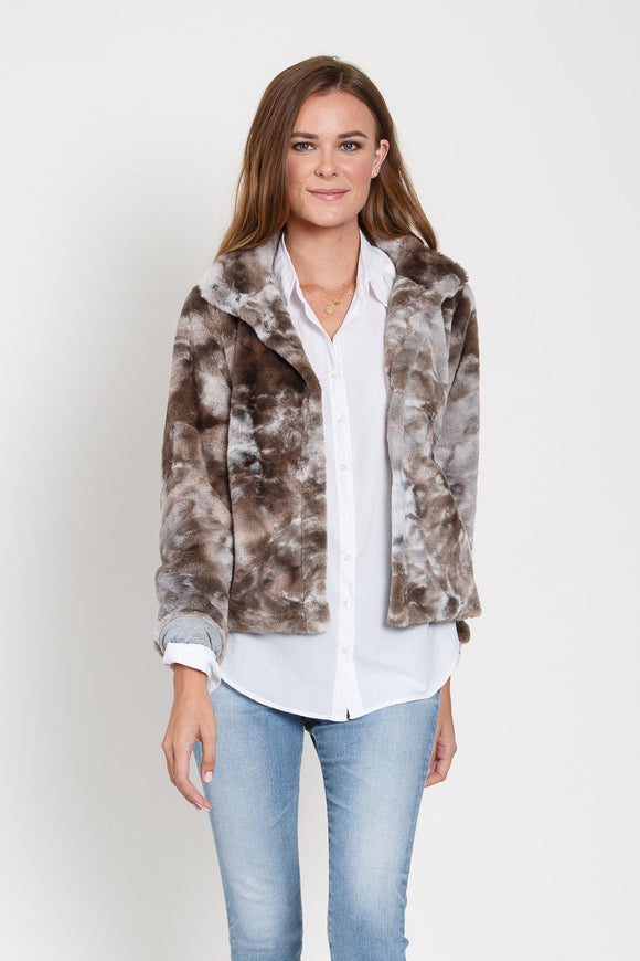 Canyon Faux Fur Snap Jacket