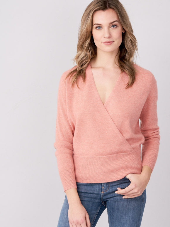 Cashmere Faux Wrap Sweater