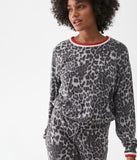Tate Scoop Neck Leopard Print Pullover