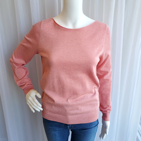 Cotton Viscose Boatneck Sweater by Repeat