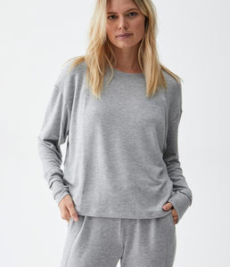 Madison Brush Scoop Neck Pullover