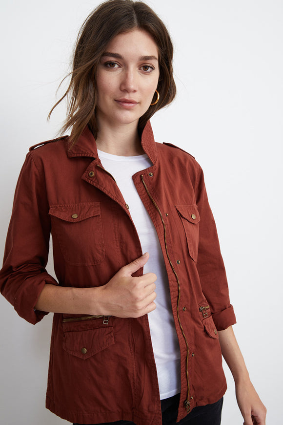 Ruby Cotton Twill Army Jacket