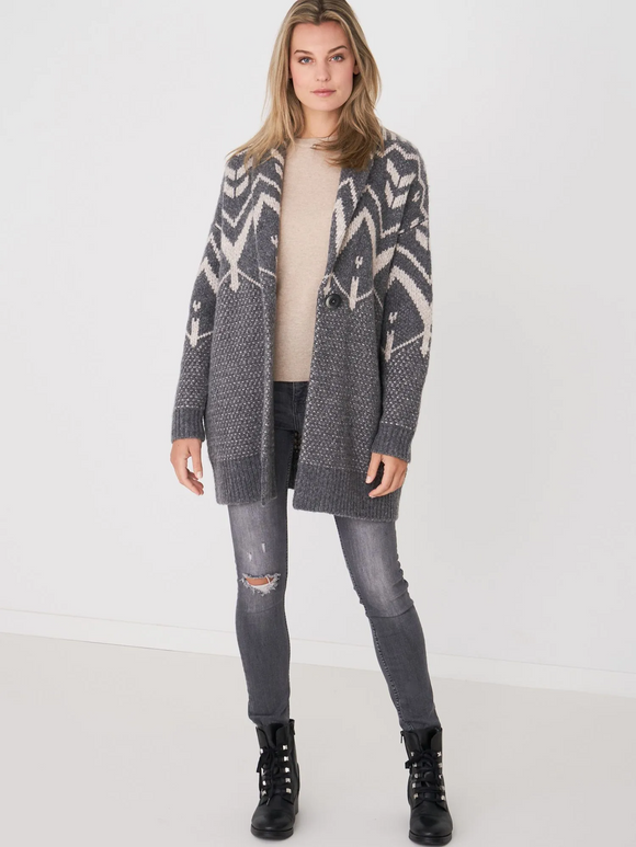 Norwegian Intarsia Sweater Coat
