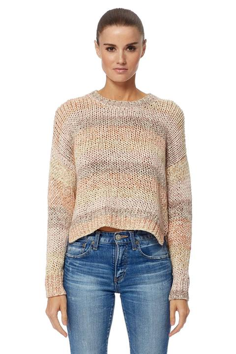 Celestia Cotton Stripe Crew Sweater