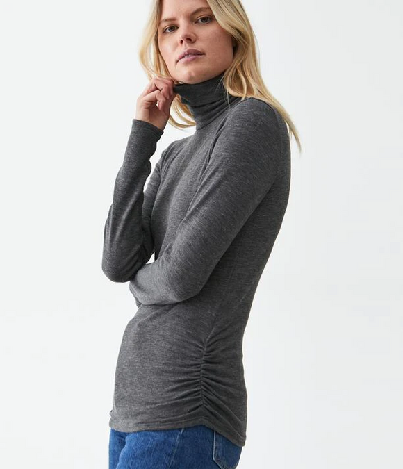 Jojo Ruched Side Turtleneck by Michael Stars