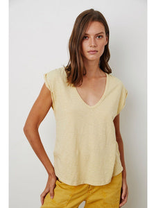 Jayden Cotton Slub Tee by Velvet