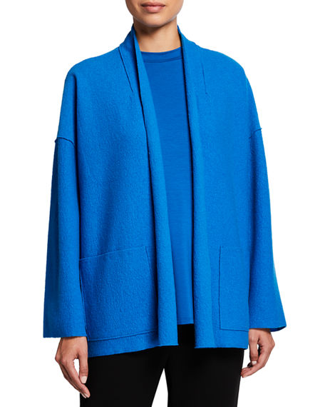 Lightweight Boiled Wool High Collar Jacket