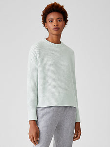Lofty Recycled Cashmere Crew Neck Top by Eileen Fisher