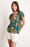 Tullia Madras Floral Printed Voile Blouse