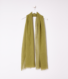 Handwoven Organic Cotton Grid Scarf