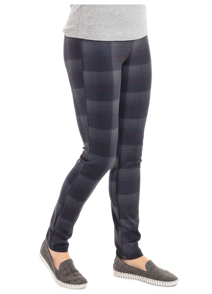 Plaid Pull On Legging