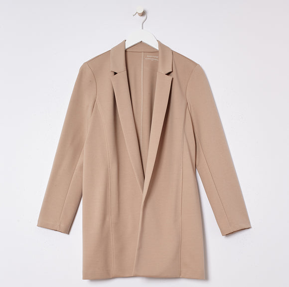 Flex Tencel Ponte Notch Collar Jacket by Eileen Fisher