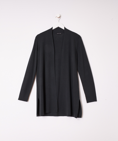 Ultrafine Merino Wool Long Cardigan