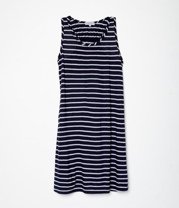 Becca Sleeveless Tank Dress w/ Elastic Back