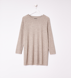 Merino Wool Straight Crew Neck Tunic