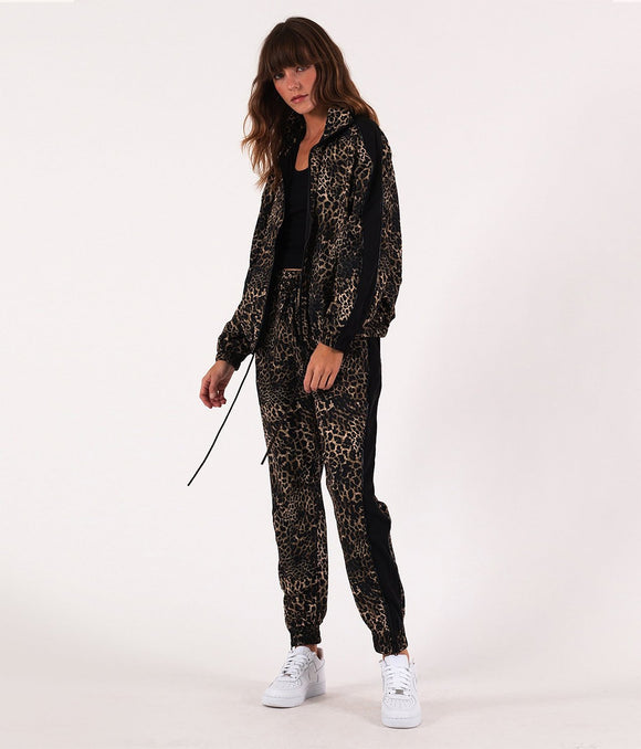 Leopard Windbreaker Pant by Pam + Gela