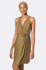 Viara Textured Crepe Dress