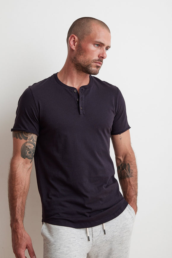 Short Sleeve Button Henley