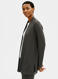 Textured Stretch Rib High Neck jacket