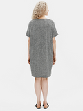 Organic Cotton Hemp Melange Vneck Dress