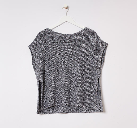 Organic Linen + Cotton Bateau Neck Top