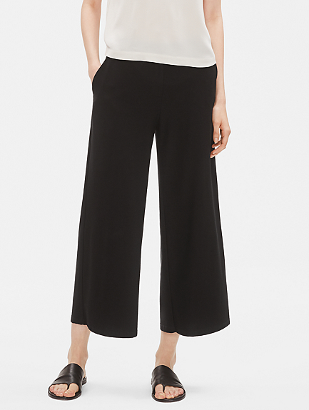 Lightweight Washable Stretch Crepe Ankle Pant