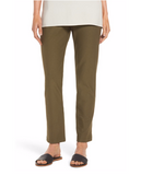 Stretch Crepe Slim Ankle Pant with Yoke