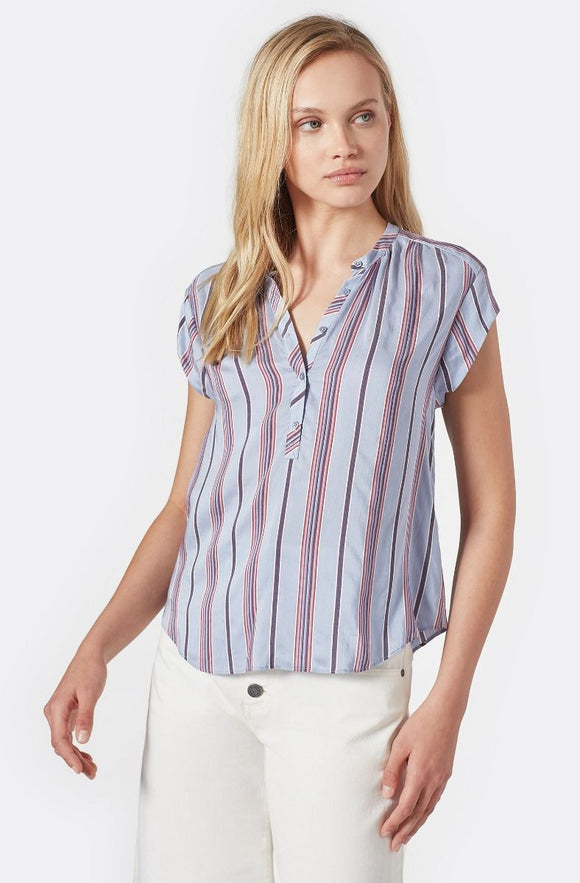Hassie Stripe Muscle Sleeve Top