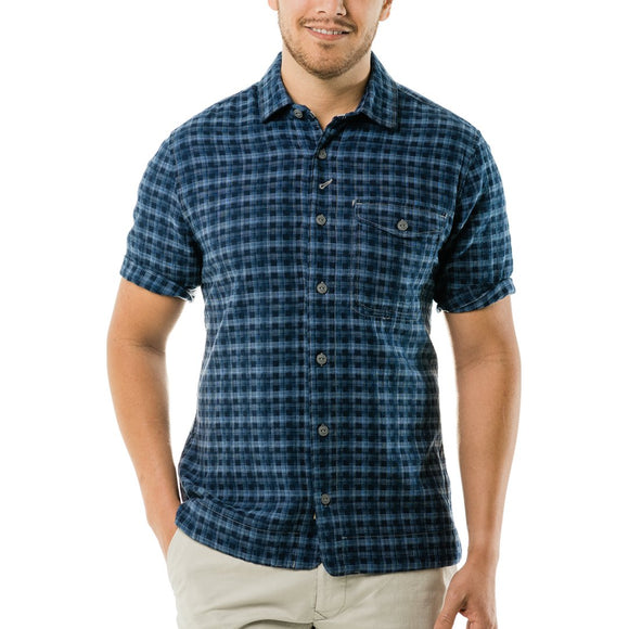Barlow Dobby Plaid Shirt Sleeve Shirt