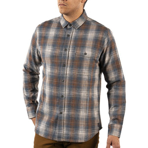 Siegal Space Dyed Plaid Shirt