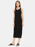 Viscose Jersey Full Length Dress by Eileen Fisher