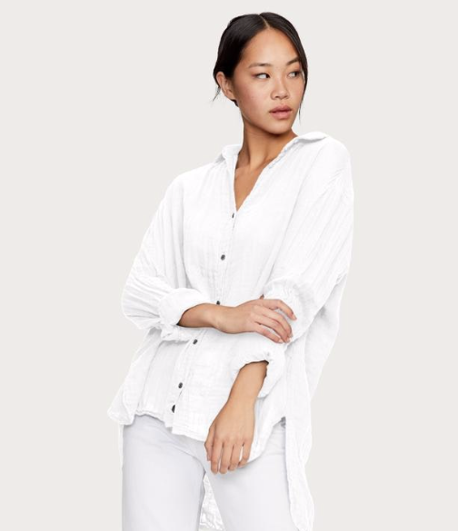 Double Gauze Long Sleeve Button Down