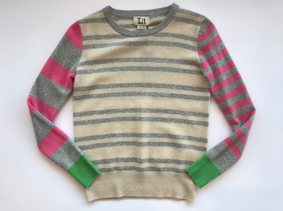Jessie Stripe Crew Sweater