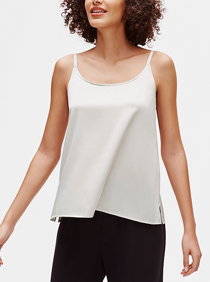 Stretch Silk Charmeuse Cami by Eileen Fisher