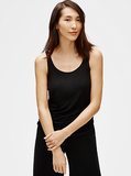 Viscose Jersey Scoop Neck Slim Shell