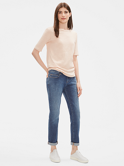 Organic Cotton Stretch Denim Boyfriend Jean