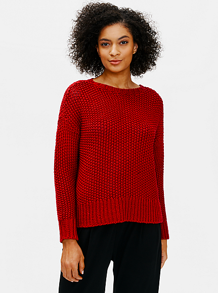 Organic Cotton Chord Crew Neck Box Top