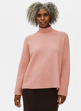 Cashmere Silk Boucle Bliss Turtle Neck Top
