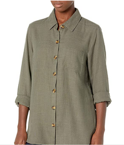 Soft Touch Button Front Shirt