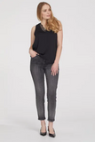 Audrey 5-Pocket Sequin Ankle Jegging