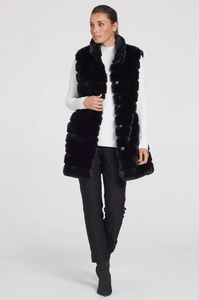Fur Coat/Vest with Removable Sleeves