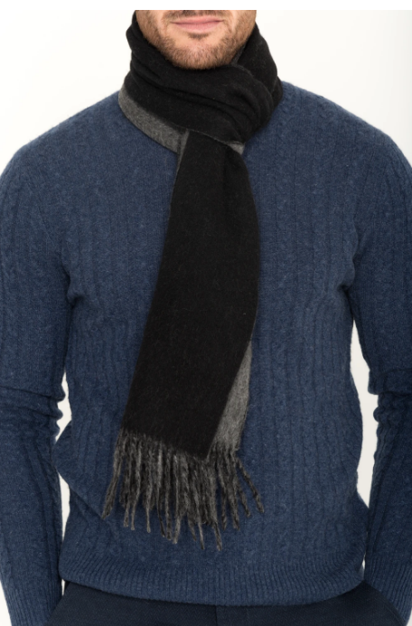 Cashmere Double-Faced Scarf - The Knight